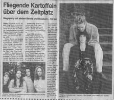 Ankündigung Konzert Open Air Hilden 2000