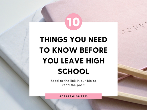 10 Things Your High School Students Need to Know Before They Leave Home!