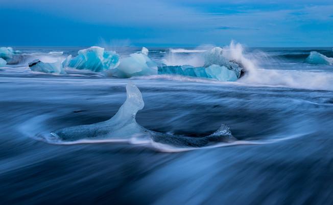 Bølger, hav og is