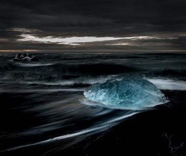 Glødende is