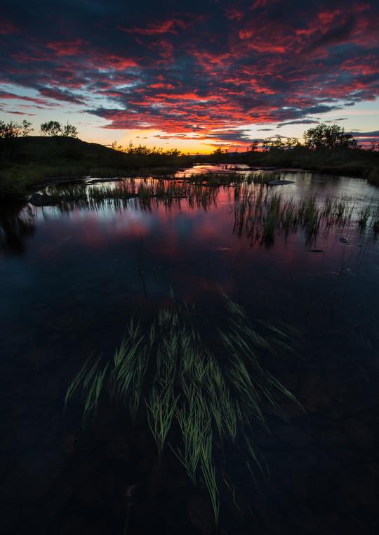 Solnedgang over elva