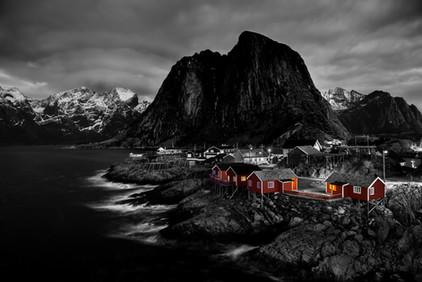Vinternatt på Hamnøy