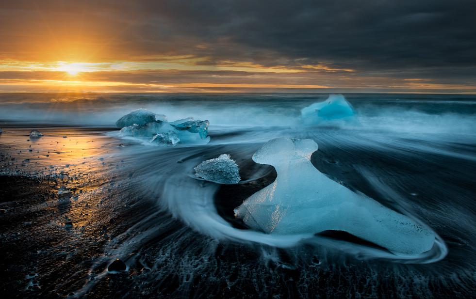 Is og soloppgang