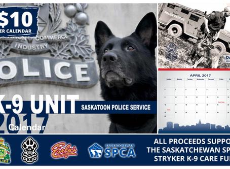Saskatoon Police Service K-9 2017 Calendar