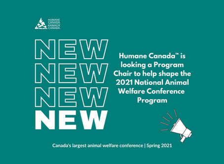 Volunteer Opportunity with Humane Canada: Program Chair, NAWC2021