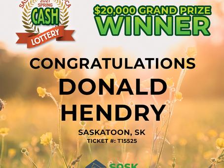 SaskSPCA Announces 2021 Spring Cash Lottery Winners