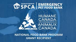 Saskatchewan Emergency Pet Food Bank Recipient of Humane Canada Grant