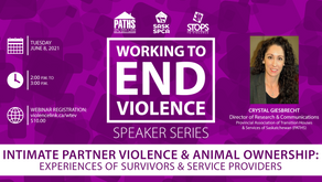 Webinar -- Working to End Violence: Intimate Partner Violence and Animal Ownership