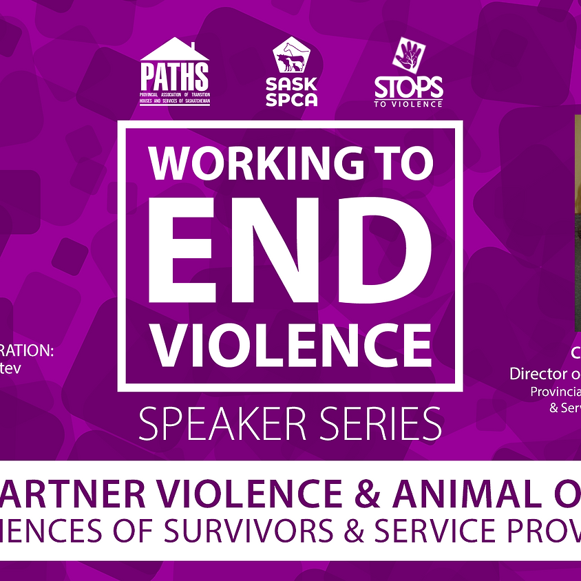 Webinar: Intimate Partner Violence and Animal Ownership: Experiences of Survivors and Service Providers
