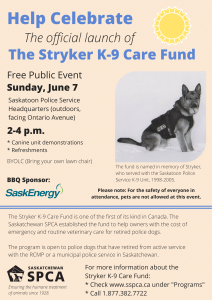 See you Sunday for the Stryker K-9 Care Fund Launch