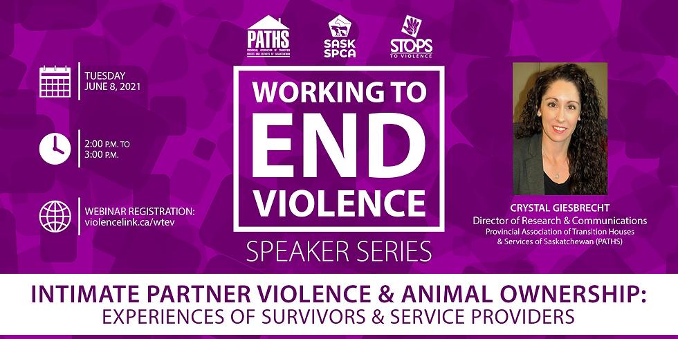 Webinar: Intimate Partner Violence & Animal Ownership