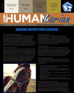 The Humanitarian: Summer 2016
