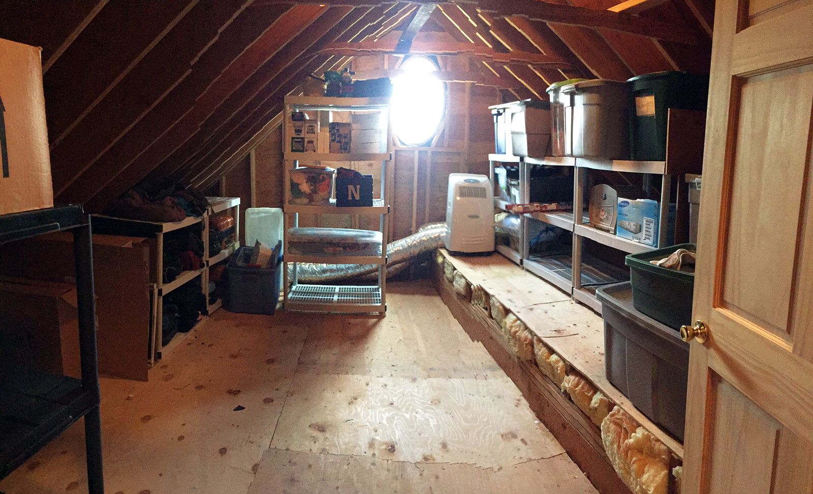 Walk In Attic - After