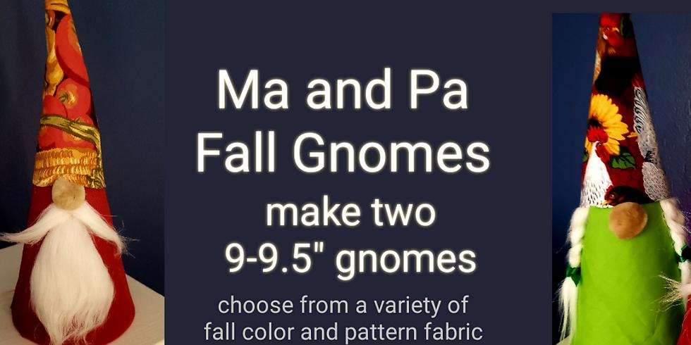 Decorative Set Of Fall Gnomes
