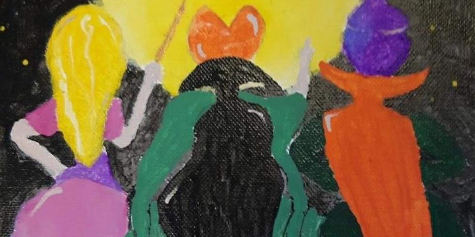 Hocus Pocus paint Party with Cassie