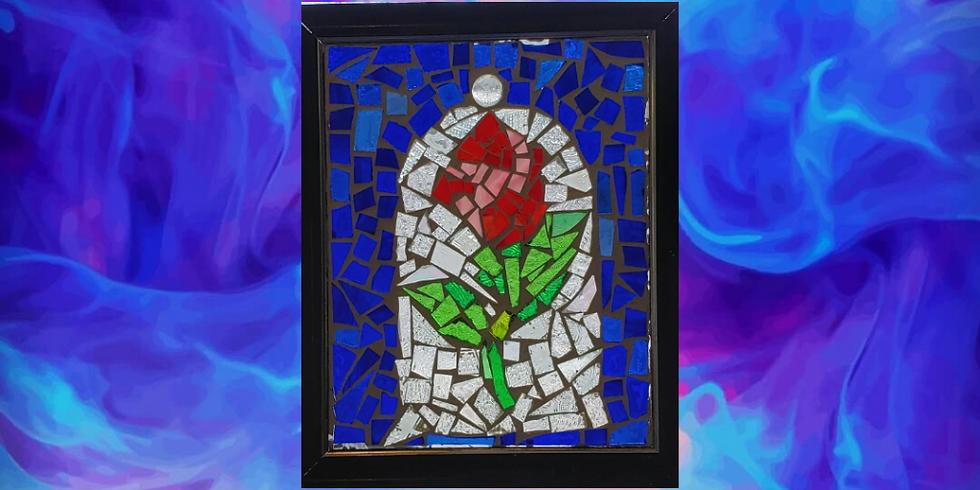 """Rose Under Glass - Dream of Flowers 8""""x10"""" Framed"""