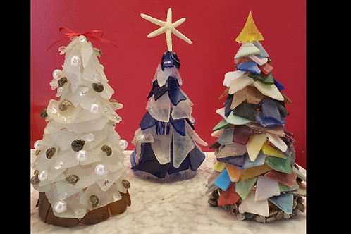 DIY Lighted Sea Glass Tree Kits - shipping included