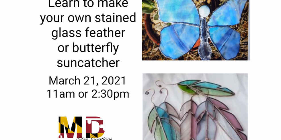 Flickerwood - Stained Glass Workshop Butterfly or Feather
