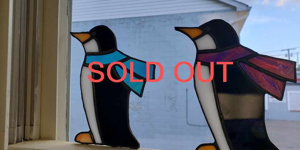 1/2 & 1/2 Penguins! We cut the penguins you cut the scarf!