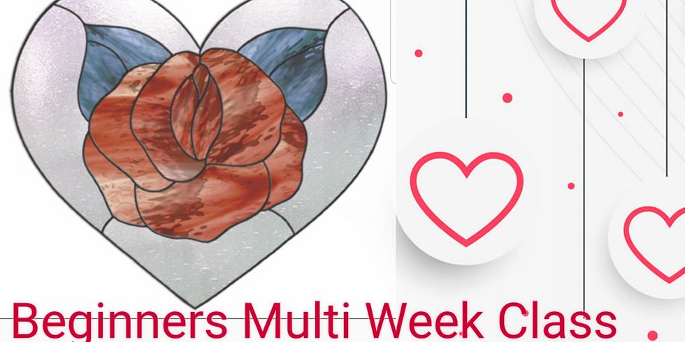 Beginners Heart Rose Panel. 4 week class.