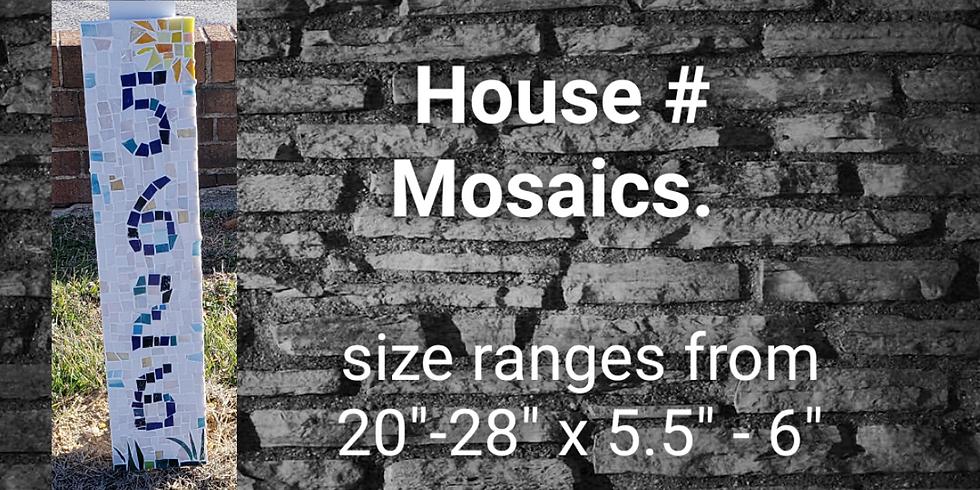 Mosaic House Sign
