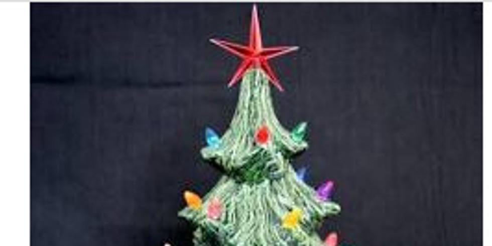 Vintage Style Painted Christmas Tree