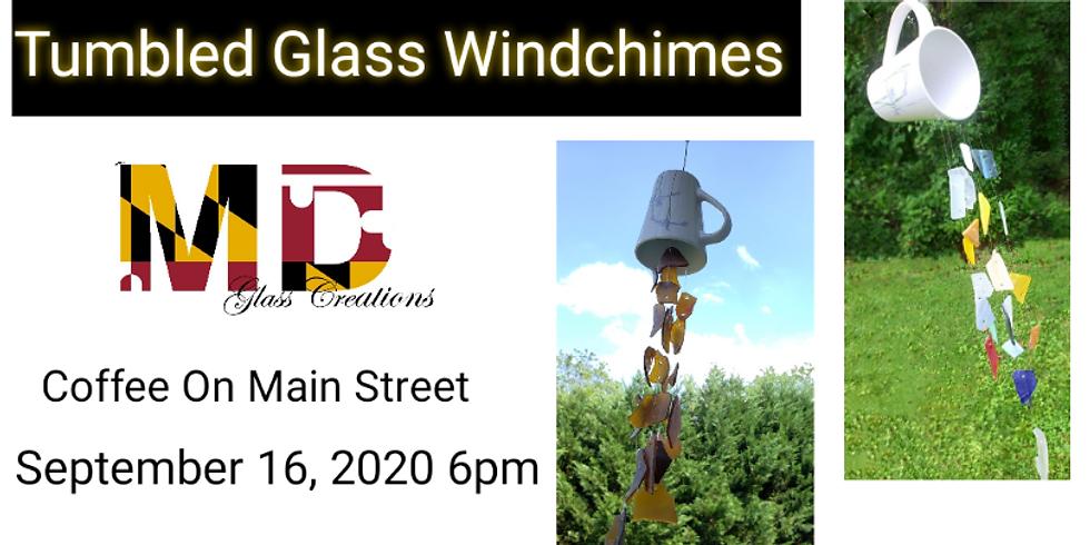 Tumbled Glass Windchimes at Coffee On Main Street