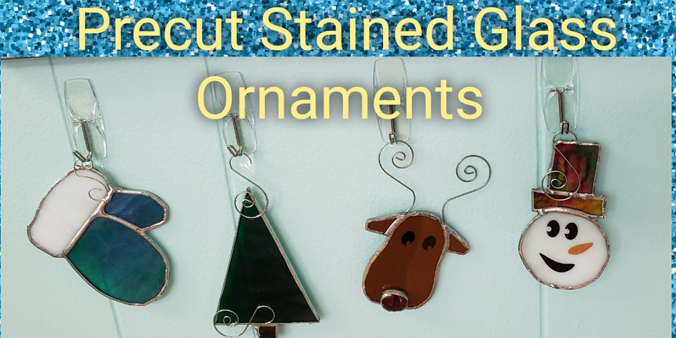 Christmas or Winter  Pre cut Ornaments 4 Pack
