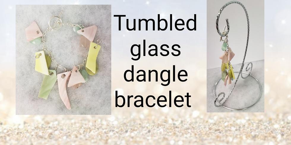 Tumbled Glass Dangle Bracelet and Pendant Necklace workshop
