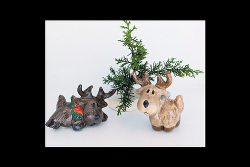 Set of 2 Moose Shelf Sitters.  Paint at home! Save $5 with store pick up