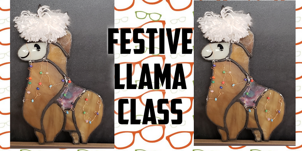 Llama stained glass