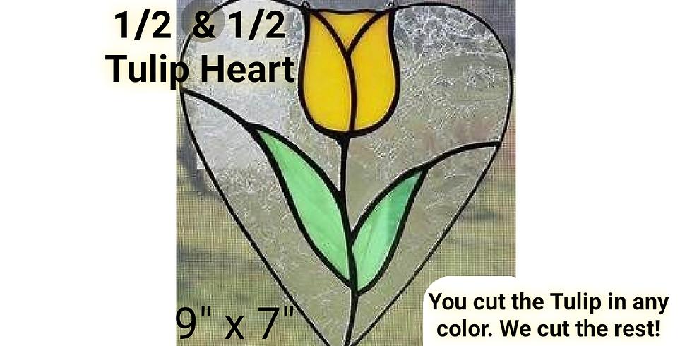 1/2 & 1/2 Tulips Heart.
