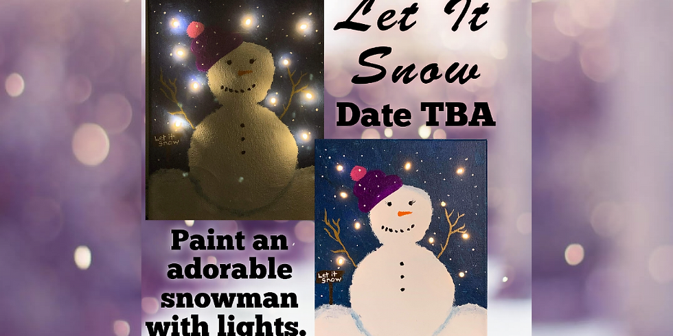 Let It Snow! Lighted Snowman Painting