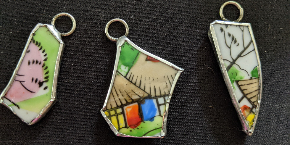 Recycled Pottery China Pendant Class