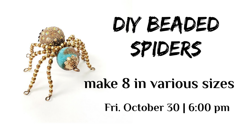 Beaded Spiders set of 8 - Guest Instructor Lisha H.