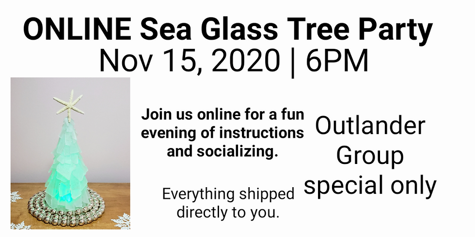 Outlander Group Online Sea Glass Tree Class - Pick up only
