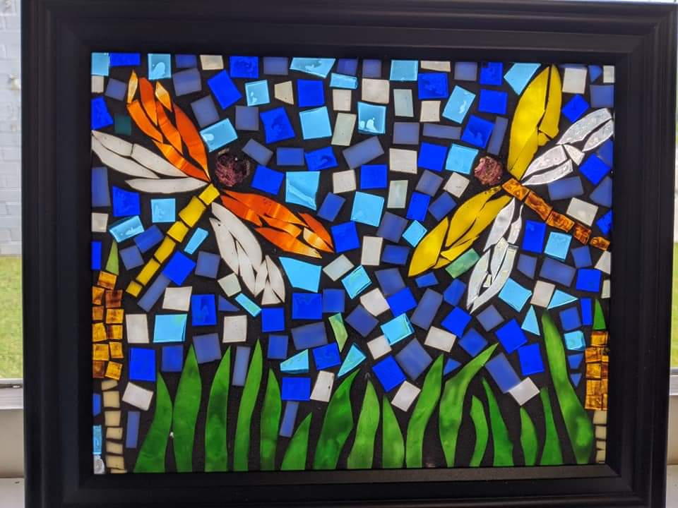 dragonfly glass mosaics