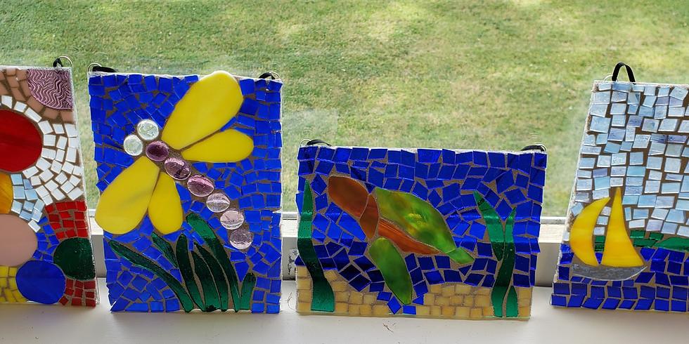 Glass on glass mosaics-Dianna