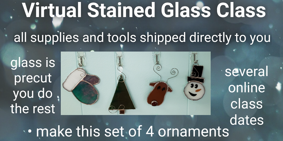 ONLINE 4 pack Christmas Ornaments - All supplies ship to you including tools!