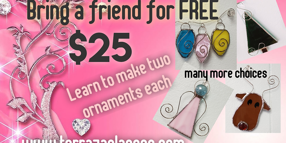 Bring a friend for free class.  Lots more pattern choices! Something for everyone. (2)