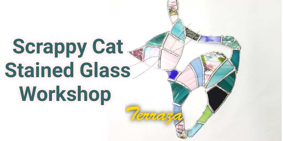Scrappy Cat Stained Glass Class
