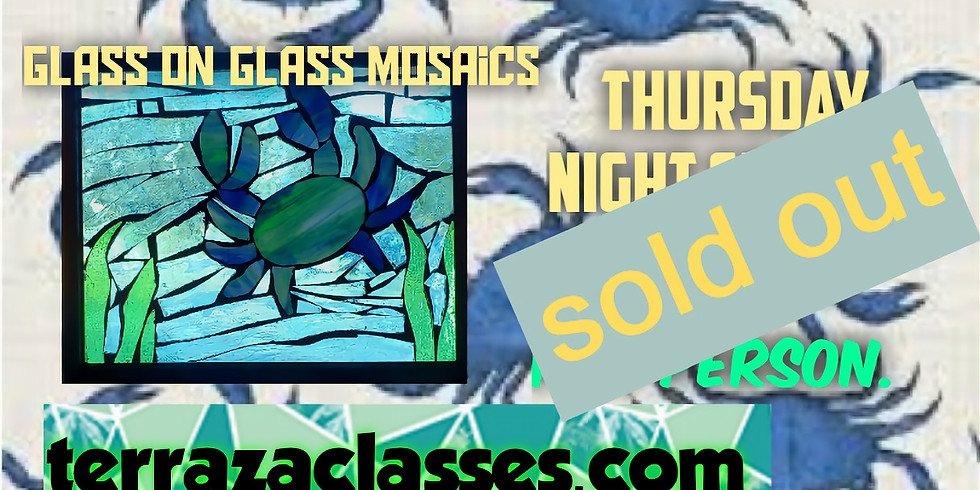 Weekday Special Crabs! Glass on Glass Mosaics
