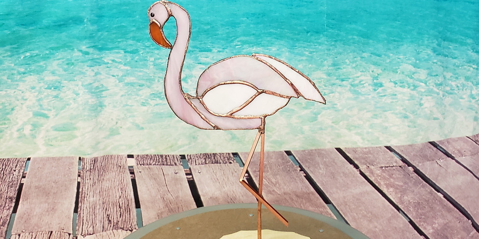 Standing Flamingo with Missy