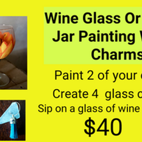 Britain Hill Painted Wine Glass OR Mason Jars