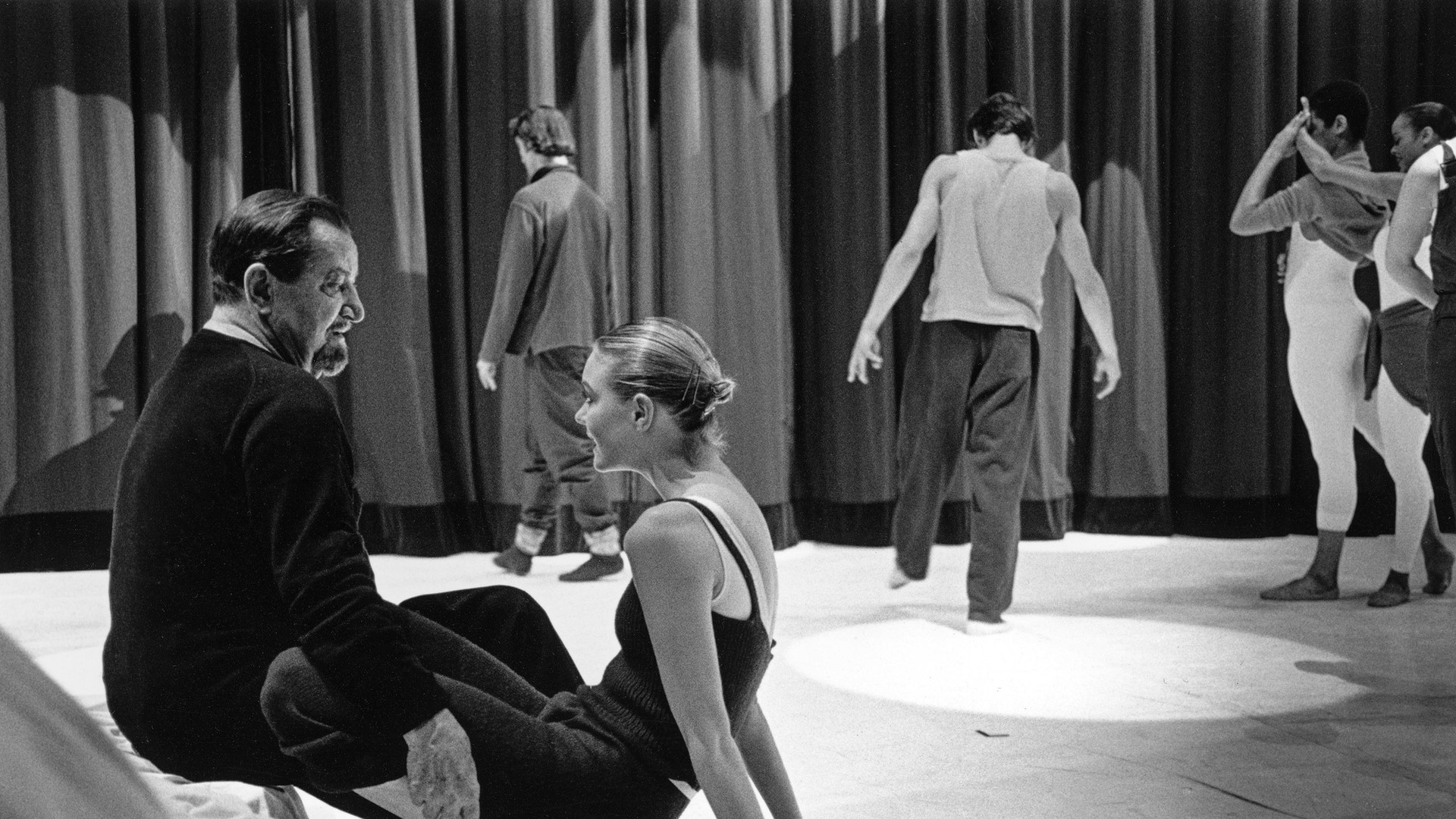 Bejart on stage Lausanne 1998