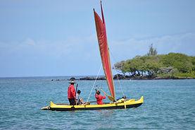 Ha'uli'uli 28' Fiberglass molded off of Koa Canoe Kaelemakule
