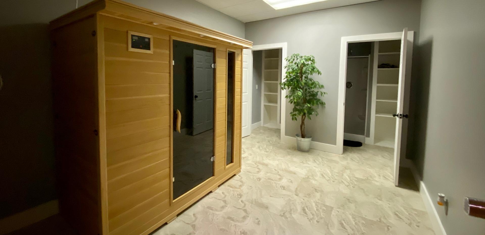 Sauna and Showers