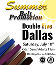 It's time to our Summer Belt Promotion, we are very happy to see how you guys are evolving and it's time for new belts and stripes!