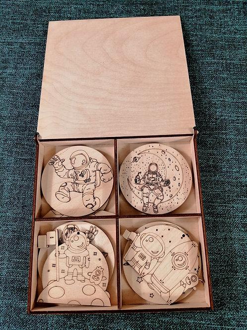 Деревянные раскраски в коробке