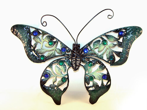 Металлический настенный декор «Бабочка Павлиний глаз»